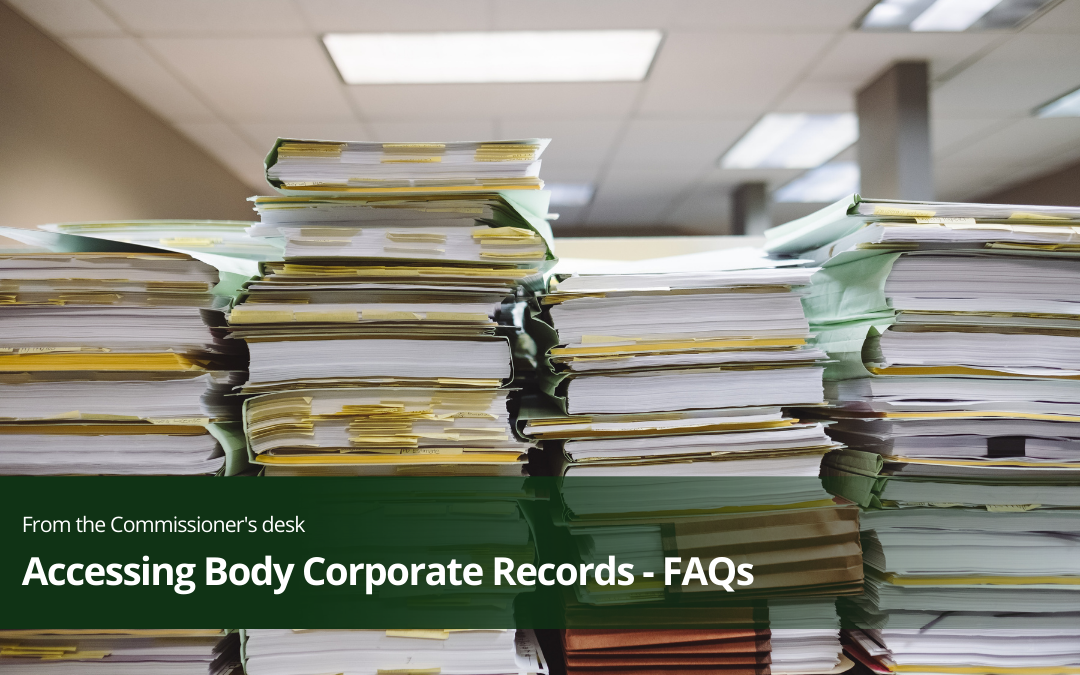 Accessing Body Corporate Records – FAQs